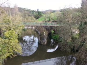 Puente medieval sobre el río Nora