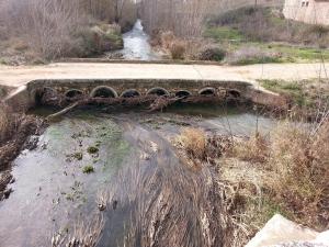 aguas abajo puente romano