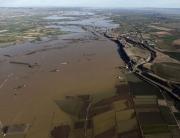 Imagen aérea del río Ebro